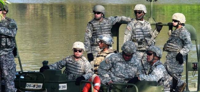 Army Guardsmen on deployment mission