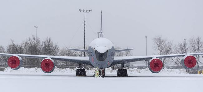 KC-135 Covered in Snow